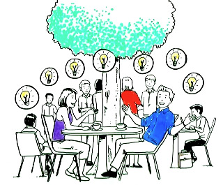 Parler de vos projets à des amis