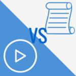 texte vs vidéo