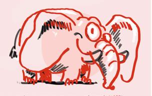 croquis d'un éléphant