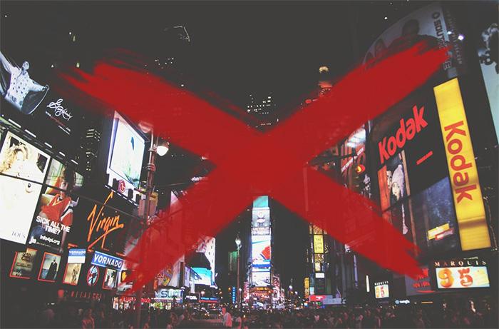 croix arrêter la publicité