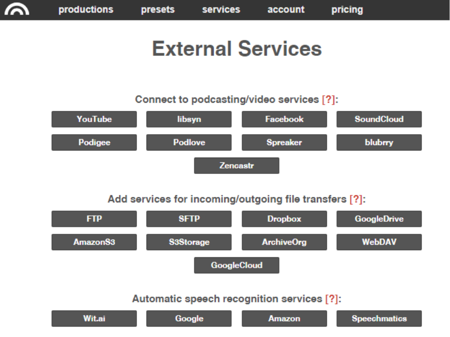 service externe image