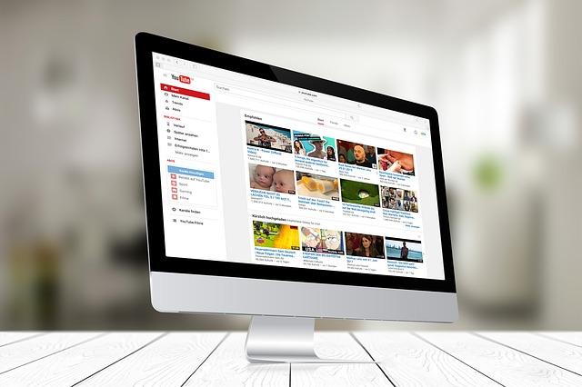 écran ordinateur youtube