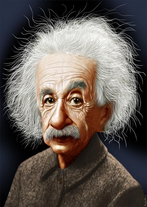 Einstein caricature dessin